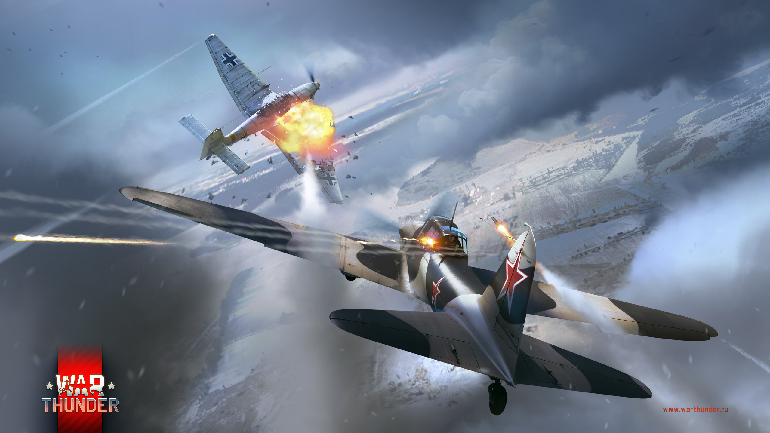 рисунок IL-2M vs Ju-87D3