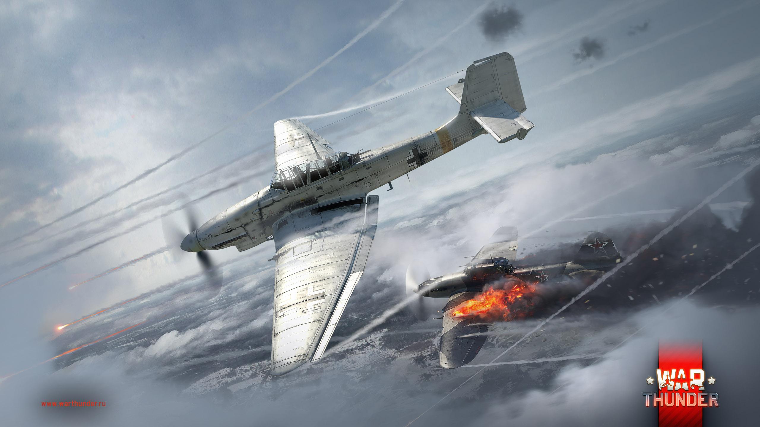 рисунок Ju-87D3 vs IL-2M