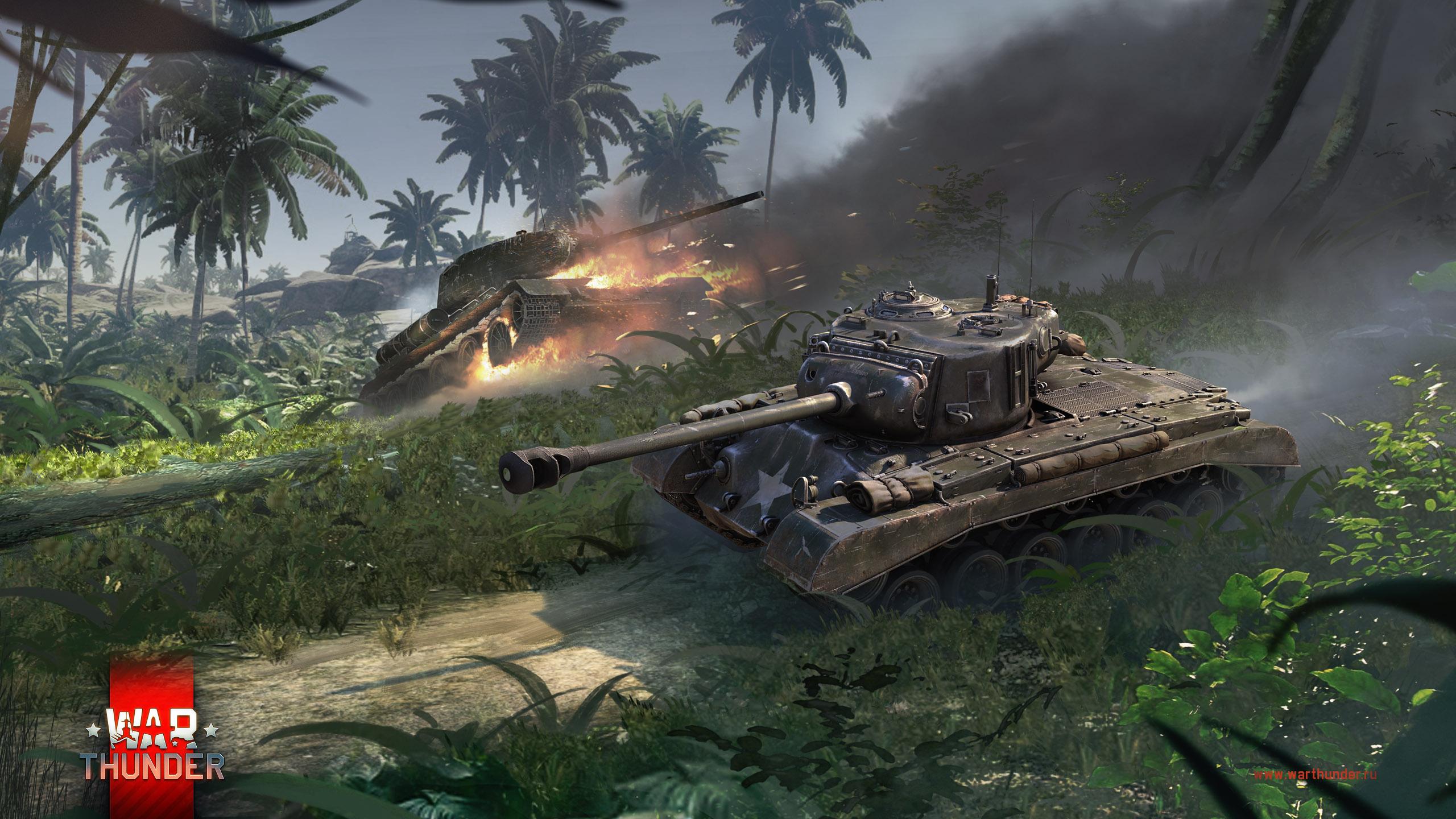 рисунок Pershing vs T-34-85