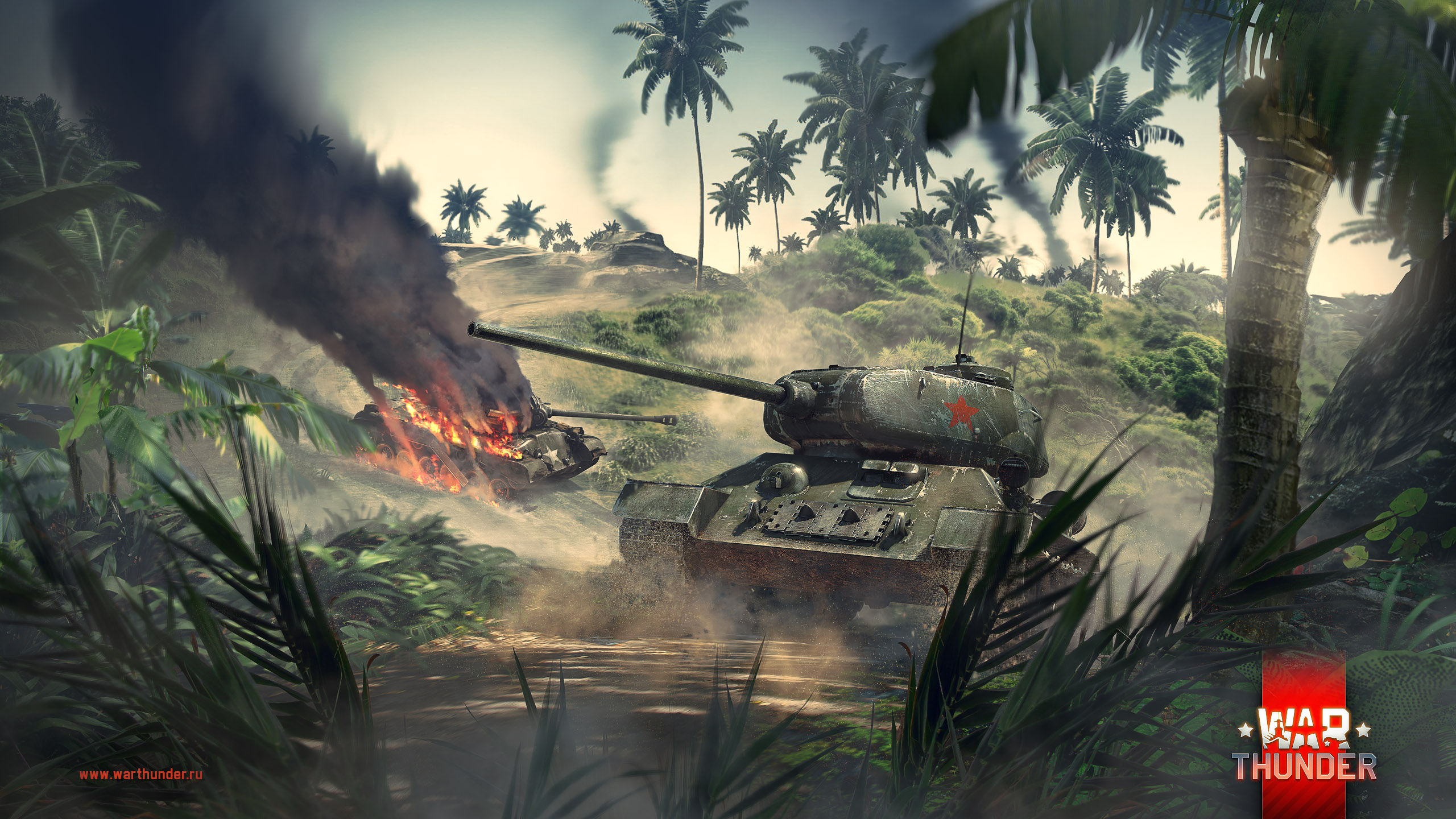рисунок T-34-85 vs Pershing