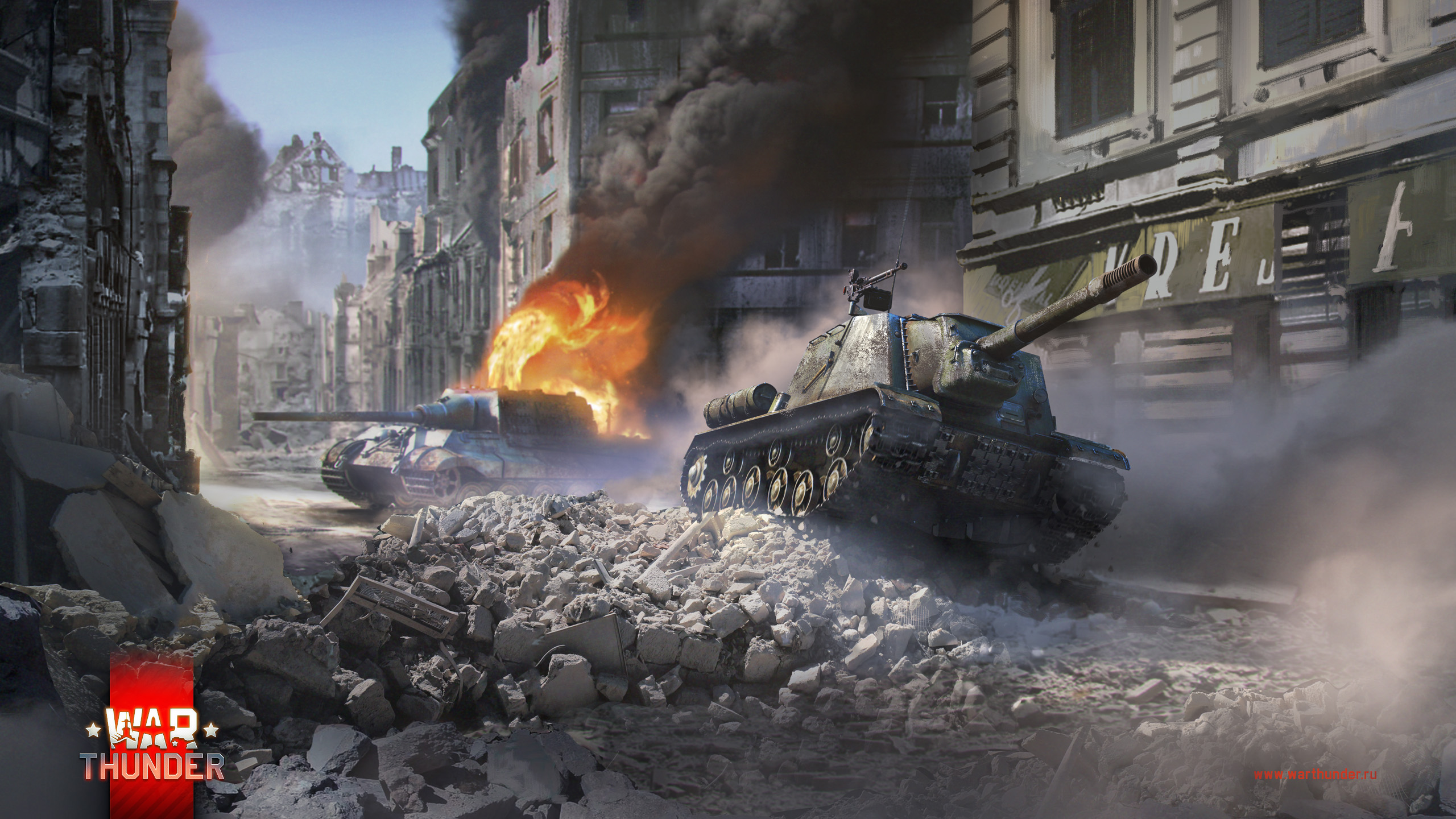 рисунок ИСУ-152 против Ягдтигра