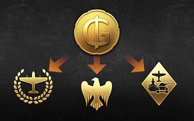GJN принимаются не только на Бирже, но и в премиум-магазине War Thunder. С их помощью можно оплатить 100% стоимости премиумной техники, пакета с Золотыми орлами или премиум-аккаунта!