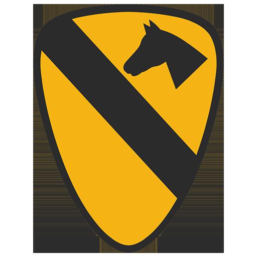 Эмблема 1-й кавалерийской дивизии, армии США