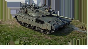 Merkava Mk.2b 6 ранг, США (Акционный)  Акционный израильский основной боевой танк стал ещё лучше! Это дальнейшее развитие серии Merkava с усиленной защитой башни. Отличная машина с высокой живучестью экипажа, великолепными углами наклона брони и большим выбором снарядов.