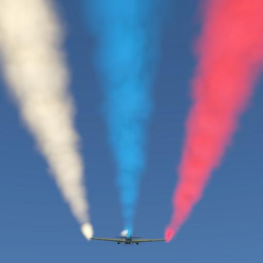 Трёхцветные пилотажные дымы