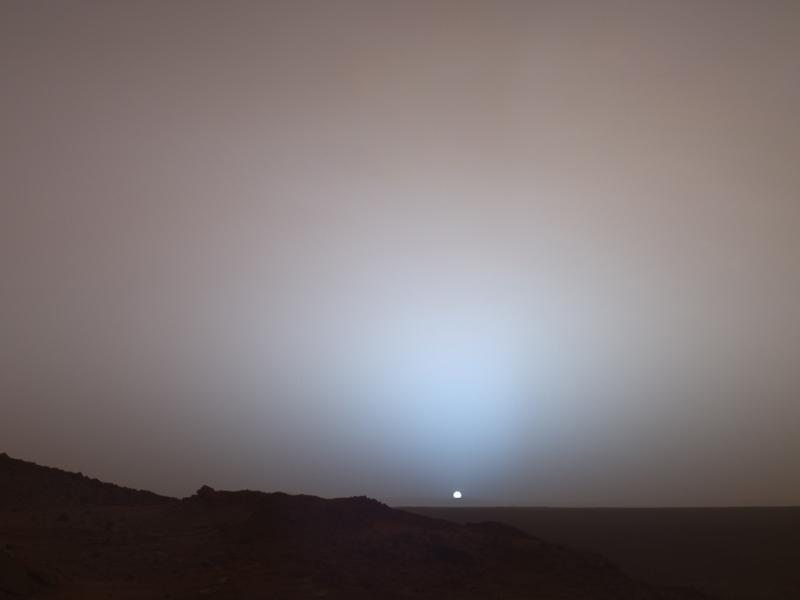 Рассвет на Марсе (Фотография NASA)