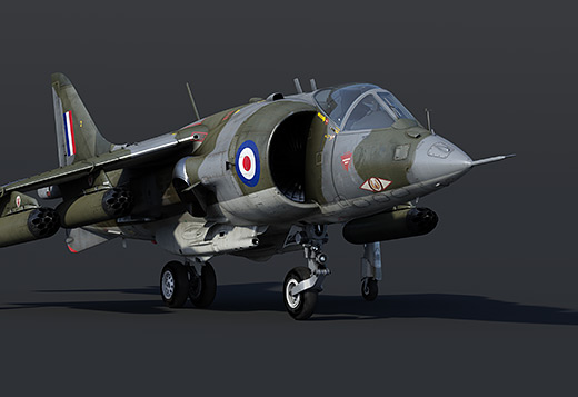Вертикальный взлёт и посадка: Harrier