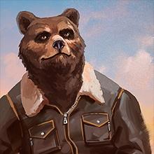 Иконка пилота «Медведь»