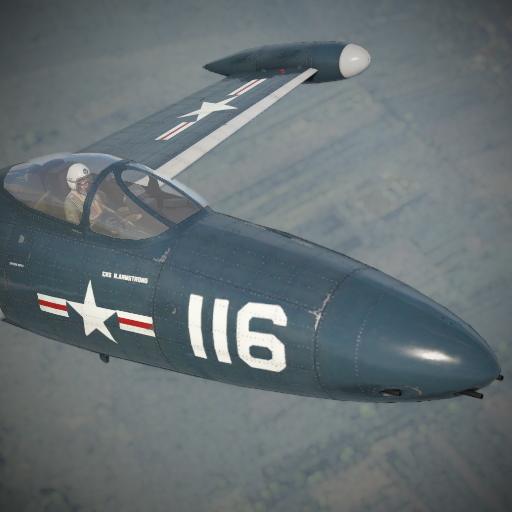 Камуфляж для F9F2 «Белый 116» Нила Армстронга.