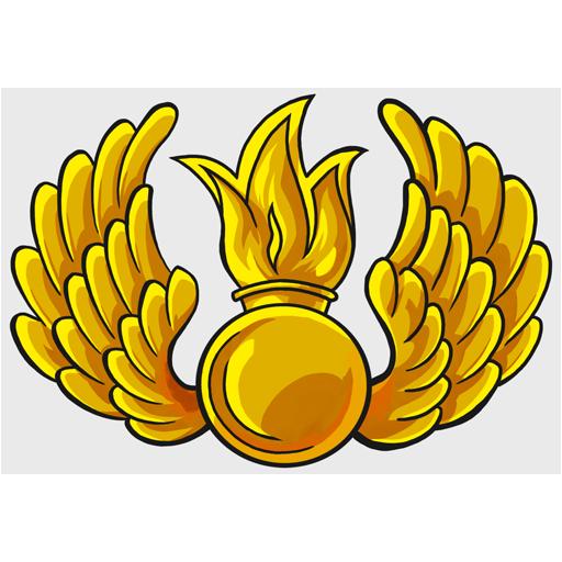 Декаль «Малая эмблема ВДВ»