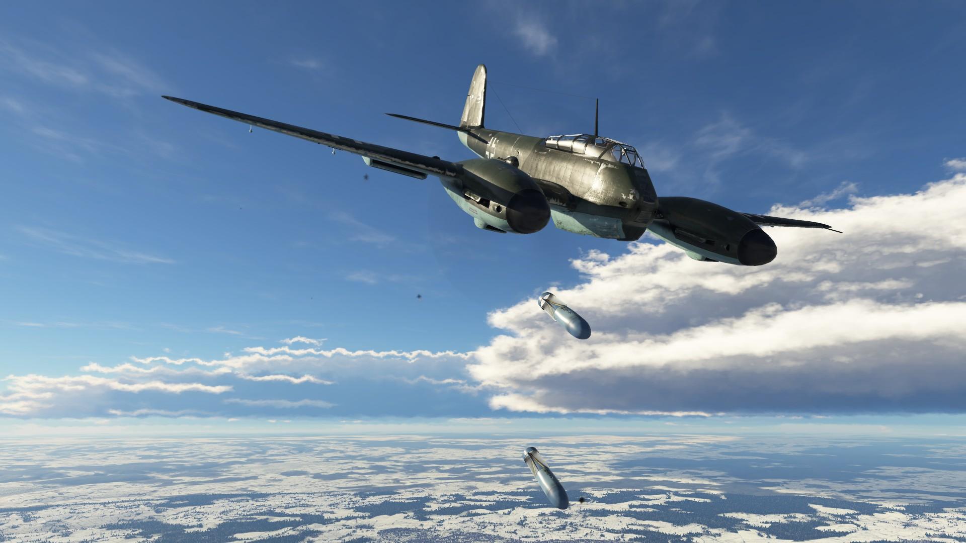 Обои Ме-410, war thunder, Самолёт, истребитель, война, Облака. Игры foto 9