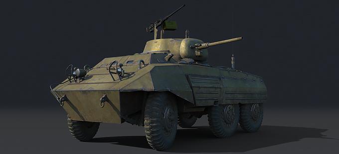 M8 - лёгкая бронемашина США. Одна из самых быстрых колёсных машин в игре.