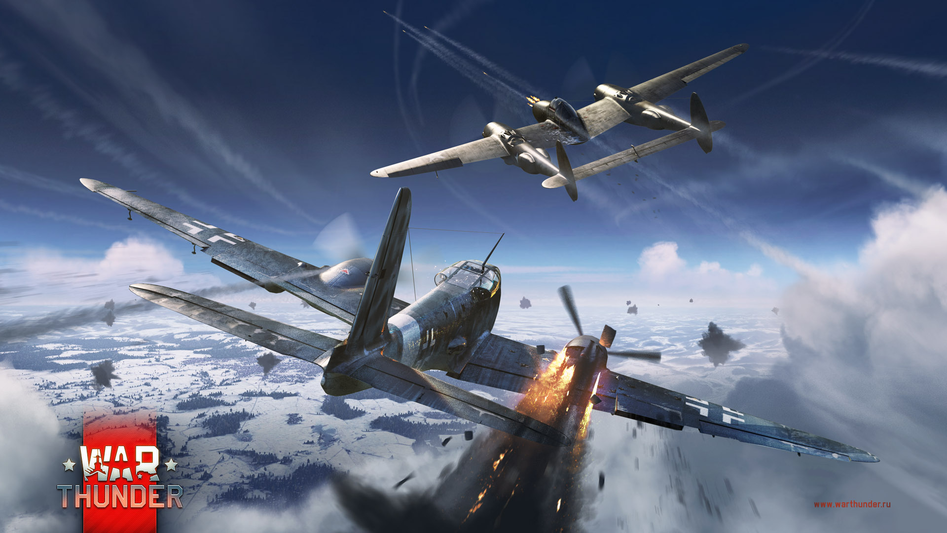 Обои Ме-410, war thunder, Самолёт, истребитель, война, Облака. Игры foto 11